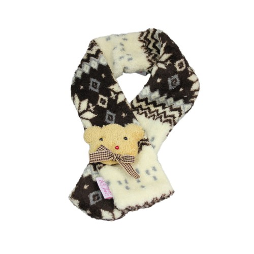 Snowflake Dog Scarf Coffee