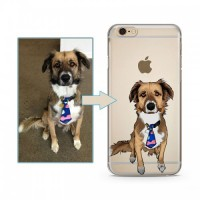Custom illustrated Pet iPhone Case, Personalised phone case, Hand Drawn Dog Case