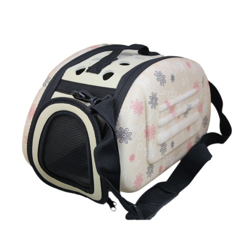 Folding Outdoor Pet Bag Cat Airline Approved Carrier Beige