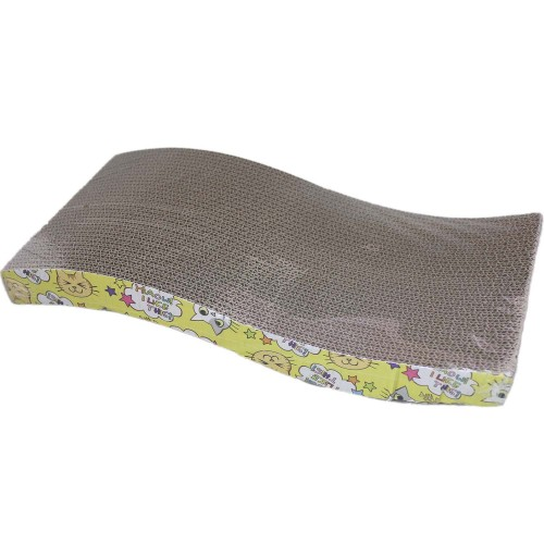Cat Scratcher Wave Curved Corrugated Pet Toy Bed