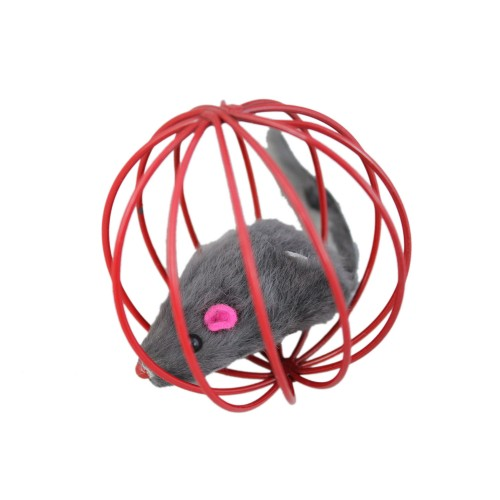 Playing Toy False Mouse in Rat Cage Cat Ball