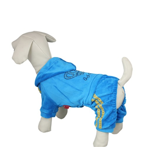 Crown Style Leisure Dog Hoodie Sweatshirt, Blue
