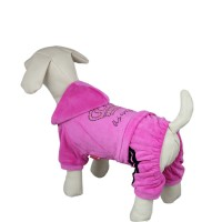 Crown Style Leisure Dog Hoodie Sweatshirt, Pink