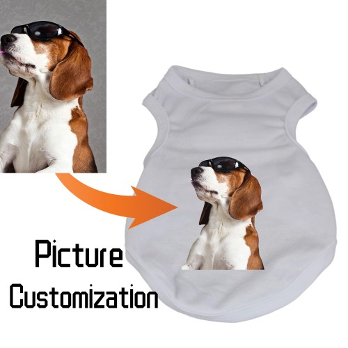 Custom Dog Tank Top, Personalized  Picture Dog Shirt