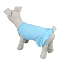 Dog Sundress for Small Medium Dogs, Blue, White