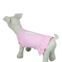 Butterfly Knot Dog Dress Pink