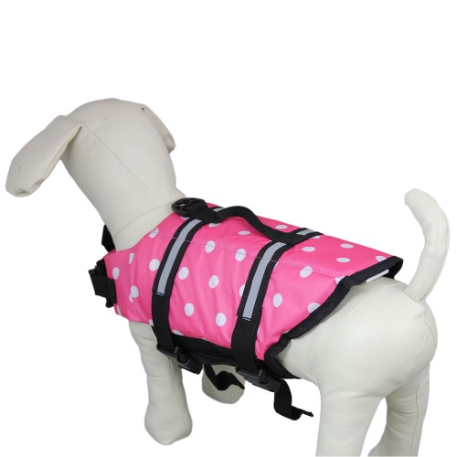 Dog Pink Dot Lifejacket-Medium