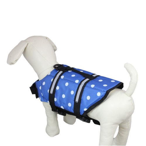Dog Blue Dot Lifejacket Pet Clothes