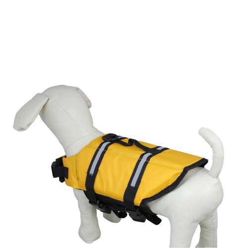 Pure yellow Dog Lifejacket Pet Clothes