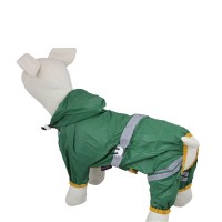 Water-proof Reflective tape pet raincoat-Green
