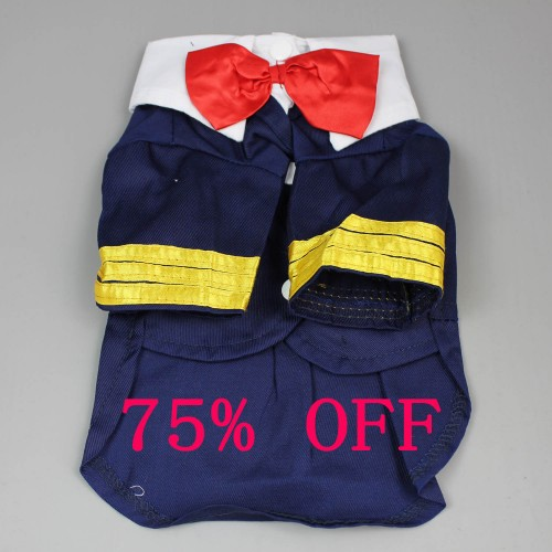 Navy Mr. Captain Pet T-Shirt