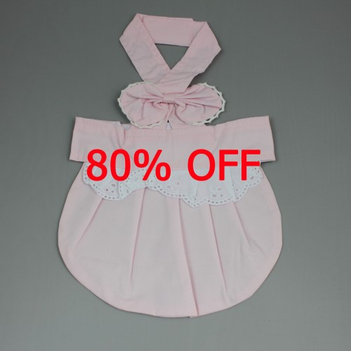 Pink Bow Hanging Neck Cute Puppy Skirt