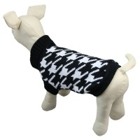 Black&White Pet Knitted Dog Sweater Clothes