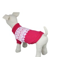 Red Knitwear Dog Sweater