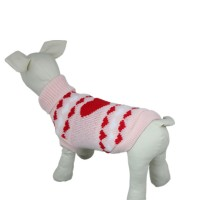 Pink Turtle Neck Love Knit Sweater Dog Clothes
