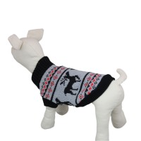 Black Double-deer Knitwear Dog Sweater