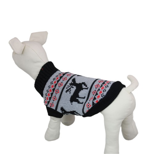 Black Double deer Knitwear Dog Sweater