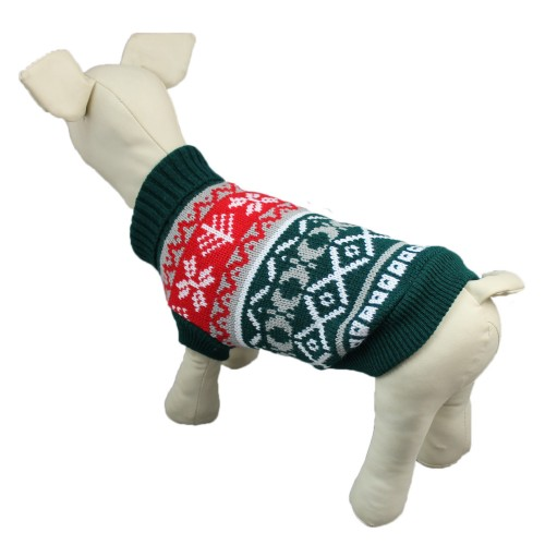 Green Plaid Lapel Puppy Sweater