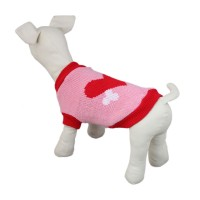 Pet Leisure Heart Knitwear Dog Sweater Clothes