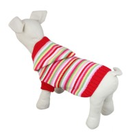 Hooded Striped Dog Knit Sweater Clothes