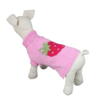 Pet Winter Clothing Starwberry Coat Knitwear Dog Sweater