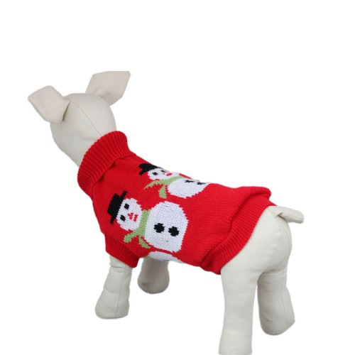 Snowman Pet Knitwear Sweater Dog Clothes
