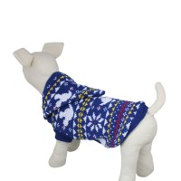 Blue Snowflake Dog Knitted Sweater