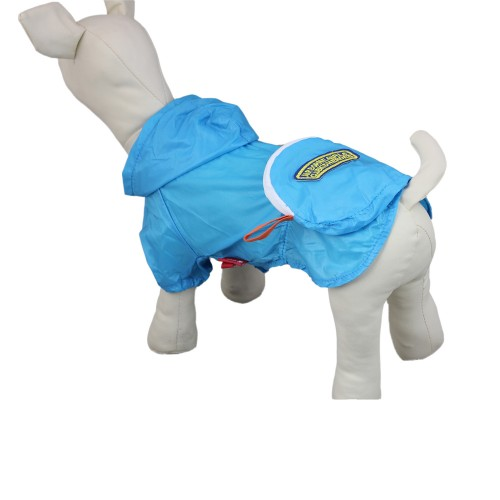 Blue Breathable Pet Sunscreen Clothes Dog Hoodie-Pocket