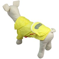 Yellow Breathable Pet Sunscreen Clothes Dog Hoodie-Pocket