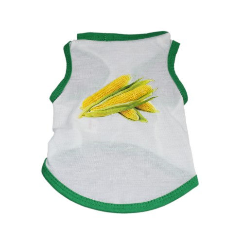 Casual Summer Pet Corn Printed Shirts Blouse Dog Vest Tops Clothes