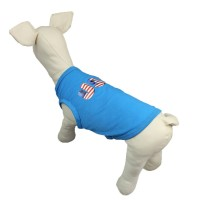 Creative Alphabet Blue Dog Vest T-Shirt Pet Clothes
