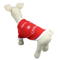 Christmas Pet Embroidered Pullover Coat Jacket