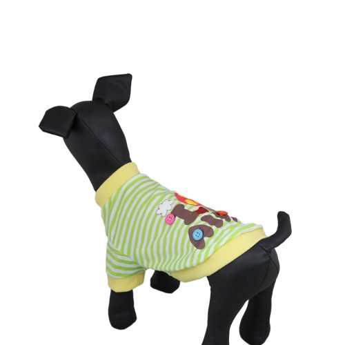 Green Stripe Colorful Mushrooms Dog T-shirt Clothes