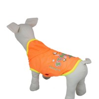 Pet Sunscreen Hooded Dog T-shirt Clothes-Orange