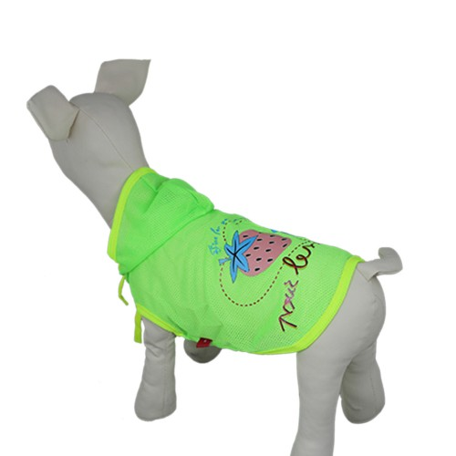 Pet Sunscreen Hooded Dog T-shirt Clothes-Green