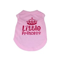 Princess Dog Tank Top T-Shirt Pink
