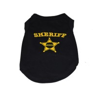 Dog Personalized T-shirt Vest Black