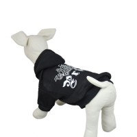 Dog Printed Hoodie Sweater Clothes Black