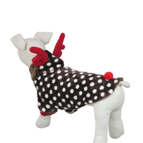 Pet Elk Santa Costume Dog Christmas Suit Coat