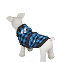 Blue Fashion Plaid Dog Jacket Clothes