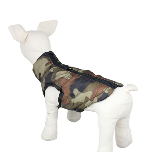 Pet Windproof Vest Dog Warm Snowsuit Jacket+Traction, Camouflage