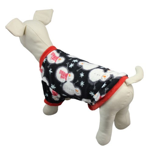 Christmas Pet Snowman Printed Jacket Pullover Embroidered Dog Clothes