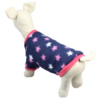 Pet Party Shirt Costume Coat Star Heart Printed Dog Jacket Pullover Clothes
