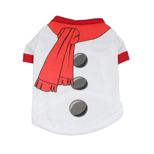 Christmas Series Dog Clothes Snowman Vest Pet Shirt Costumes