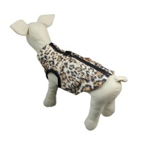 Pet Puppy Cotton Jacket Traction Buckle Leopard Vest
