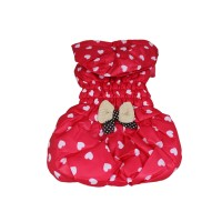 Hearts-shaped Leisure Winter Hoodie Dog Coat-Red