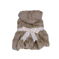 Vogue Supersoft Plush Dog Winter Skirt Dark Brown