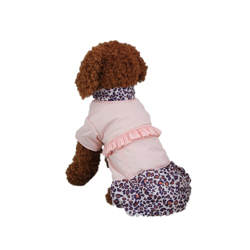 Leisure Leopard Pattern Dog Coat Pet Skirt