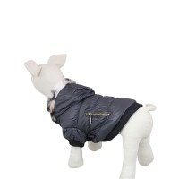 Pets Zipper Classic Winter Dog Hoodie Coat-Black