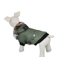 Army Green Classic Casual Pet Winter Coat